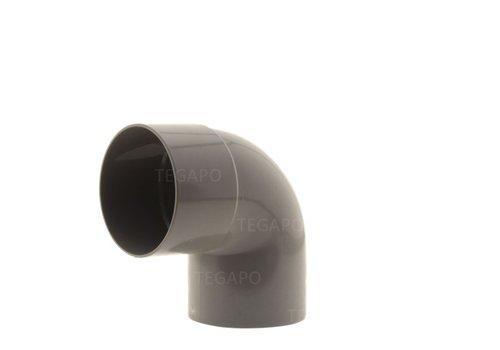 PVC bocht 90 graden 80mm m-s