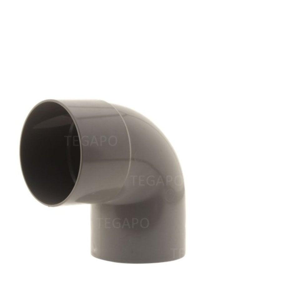 PVC bocht 90 graden 80mm m-s-1