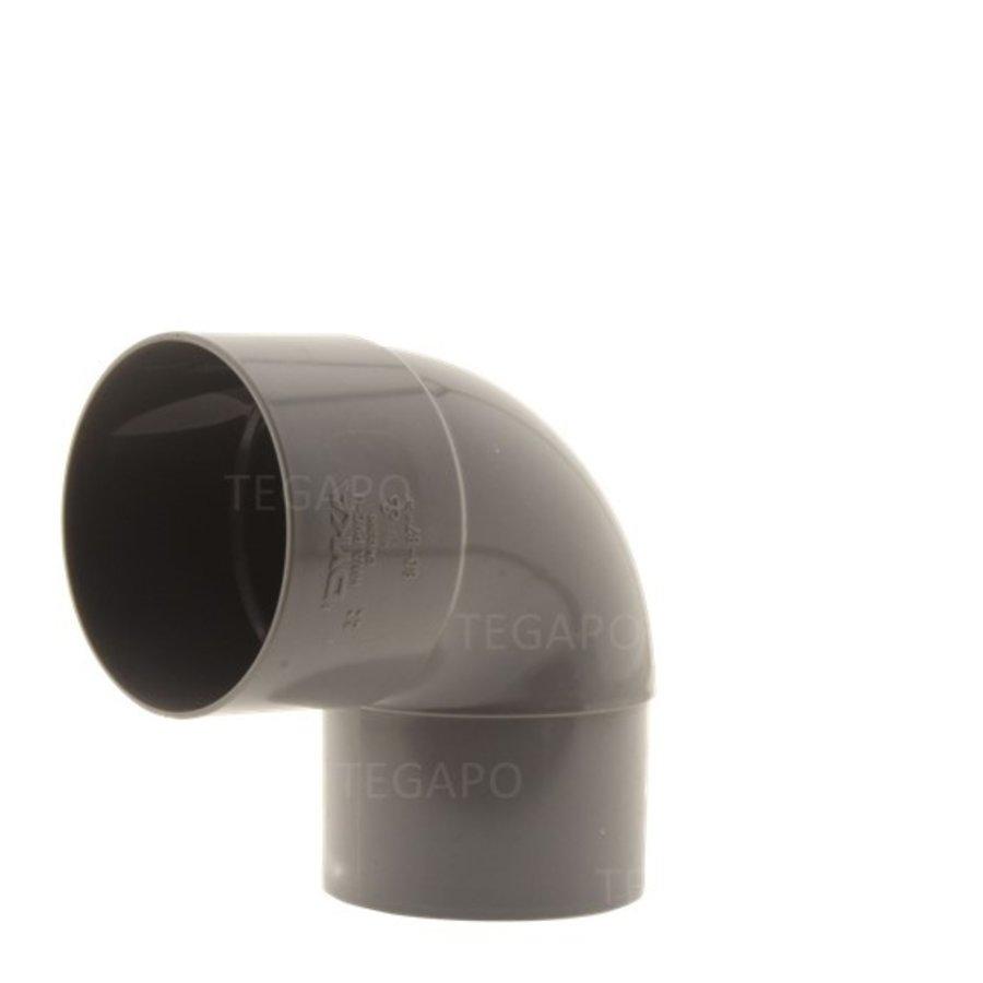 PVC bocht 90 graden 80mm m-vjs-1