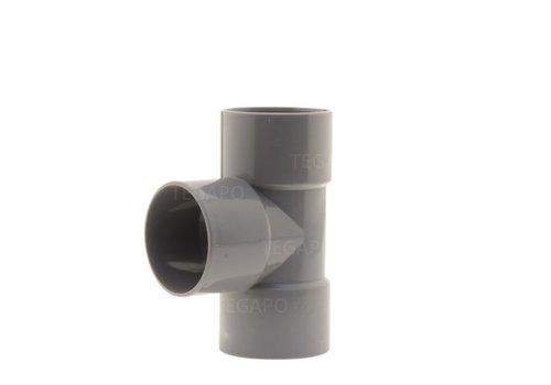 PVC T-stuk 50mm m-m-m