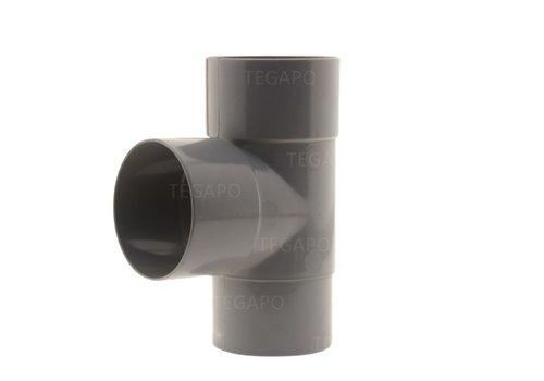 PVC T-stuk 70mm m-m-vjs