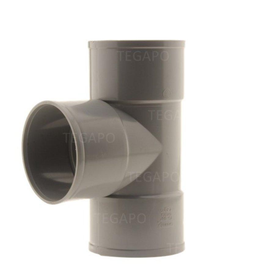 PVC T-stuk 75mm m-m-m-1