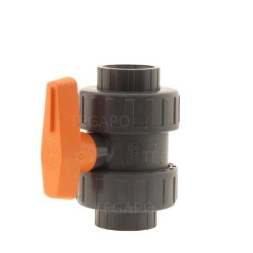 Kogelkraan druk-PVC 32mm