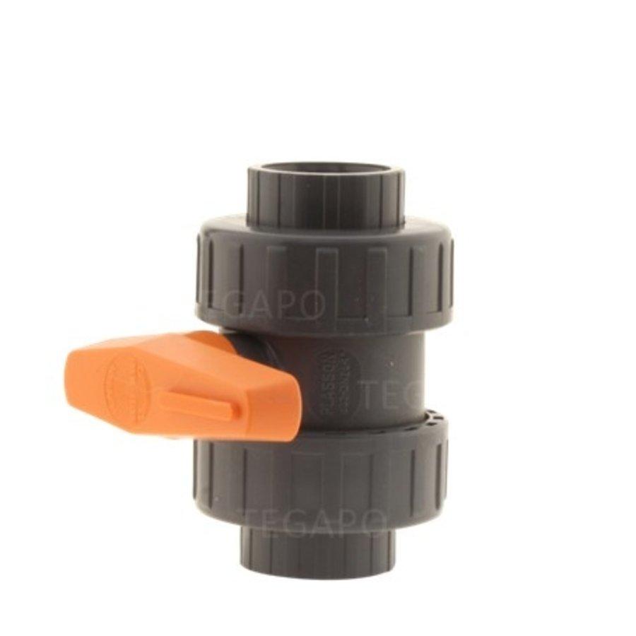 Kogelkraan druk-PVC 32mm-2