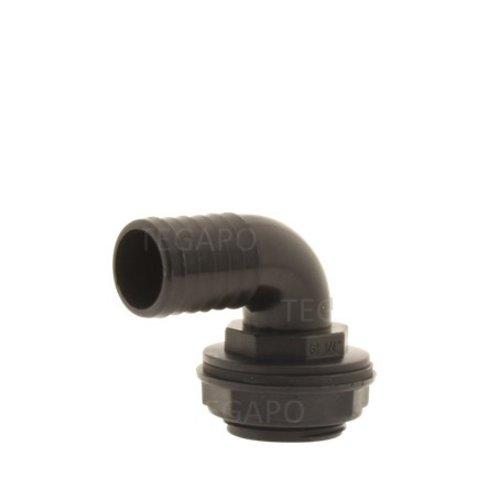 PP pilaar 32mm haaks compleet