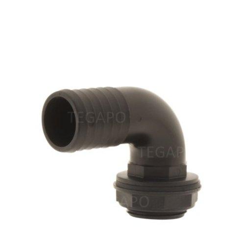 PP pilaar 40mm haaks compleet