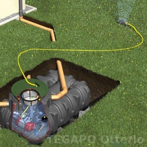 Regenwater opvangpakket 1500 liter met pomp en filter compleet