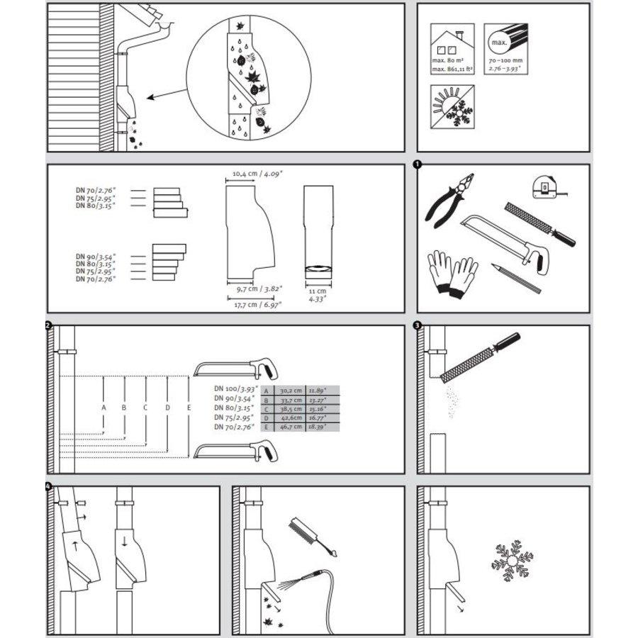 Bladscheider PVC bruin 70-90mm-3