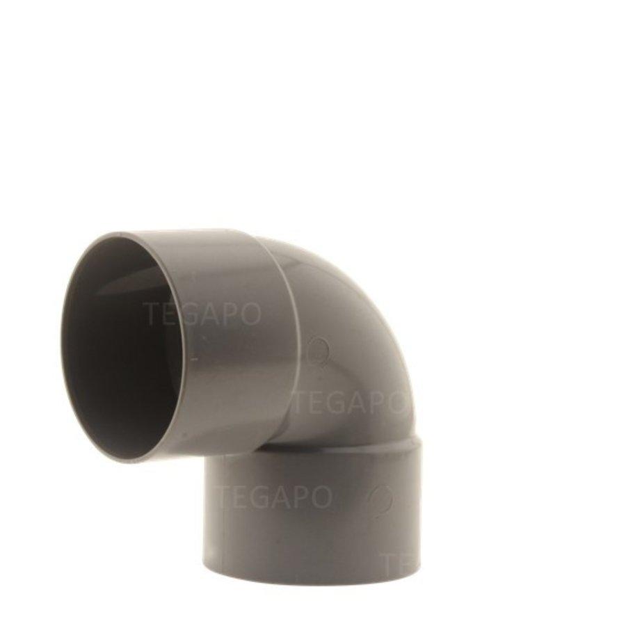 PVC bocht 90 graden 70mm m-m-1
