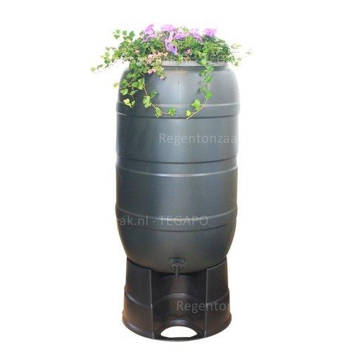 Regenton Flower Bowl 210 liter met zwart onderstel