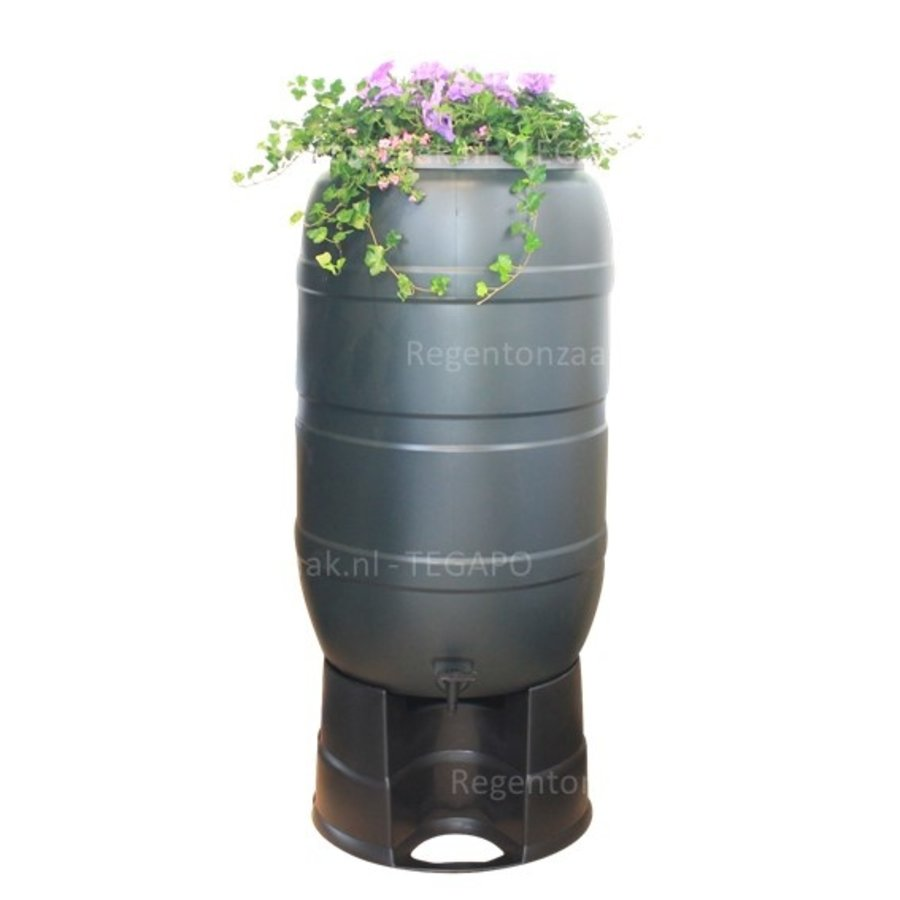 Regenton Flower Bowl 210 liter met zwart onderstel-1