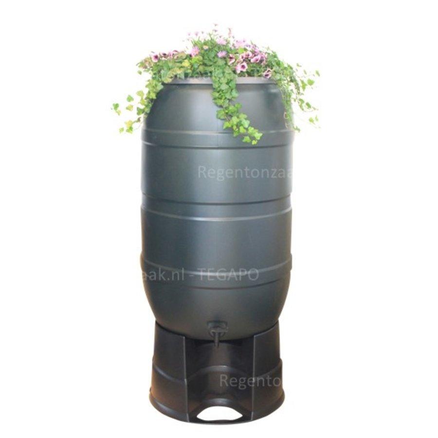 Regenton Flower Bowl 210 liter met zwart onderstel-2