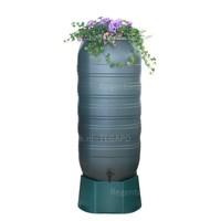 thumb-Regenton Flower Bowl 270 liter met groen onderstel-1