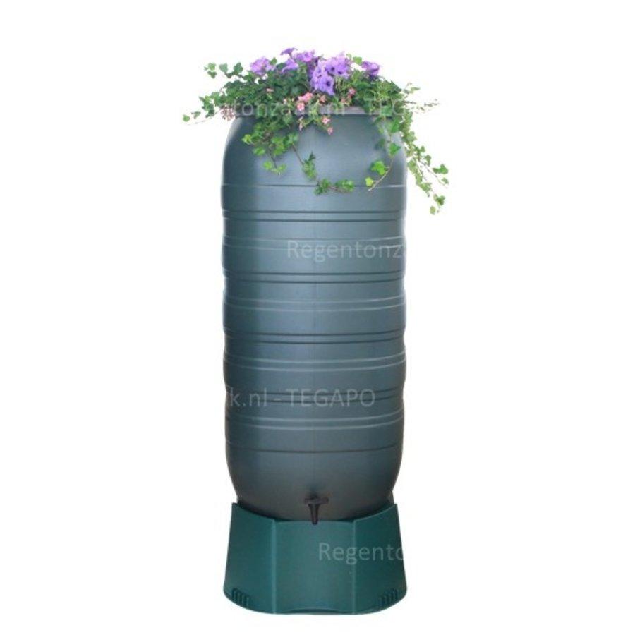 Regenton Flower Bowl 270 liter met groen onderstel-1