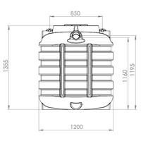thumb-Watertank BDT 1000 liter ondergronds-2