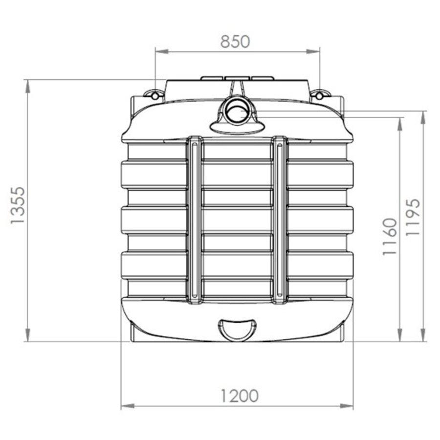 Watertank BDT 1000 liter ondergronds-2