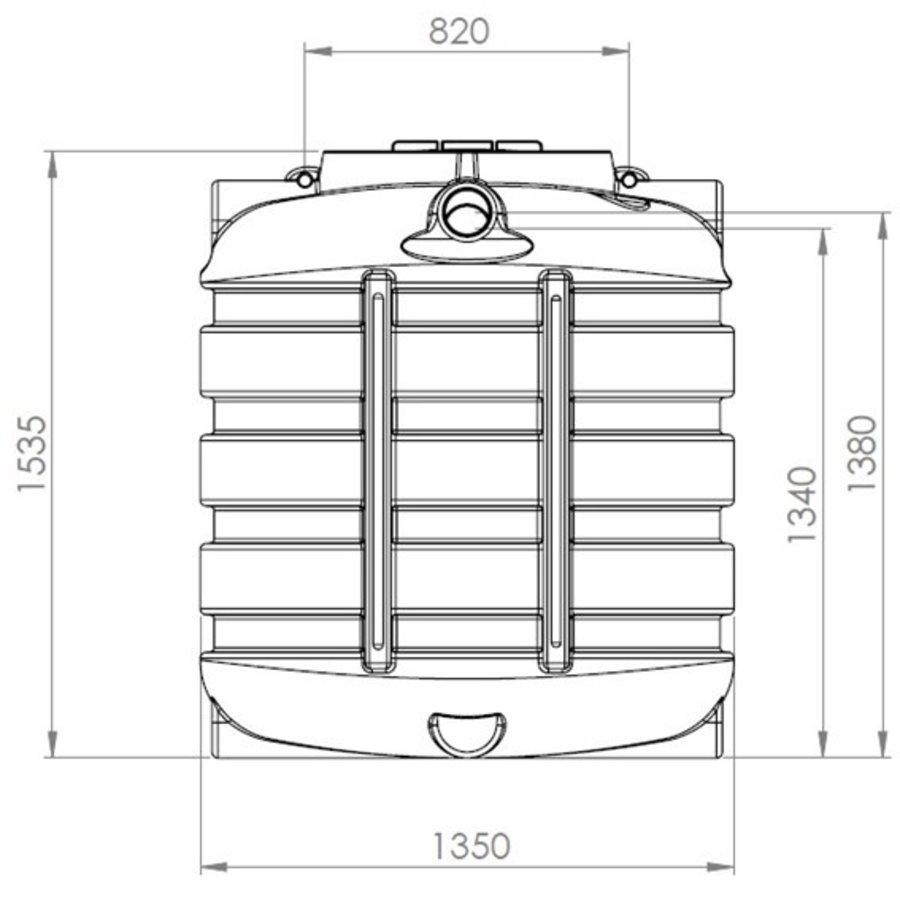 Watertank BDT 1500 liter ondergronds-2
