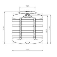 thumb-Watertank BDT 2000 liter ondergronds-2