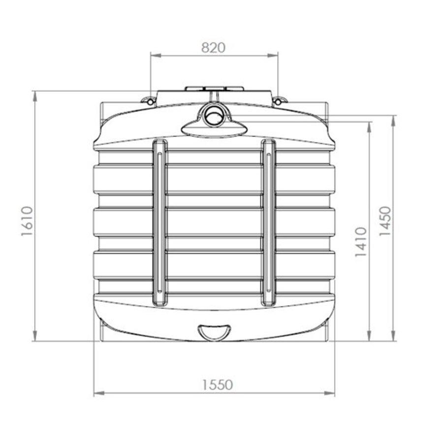 Watertank BDT 2000 liter ondergronds-2