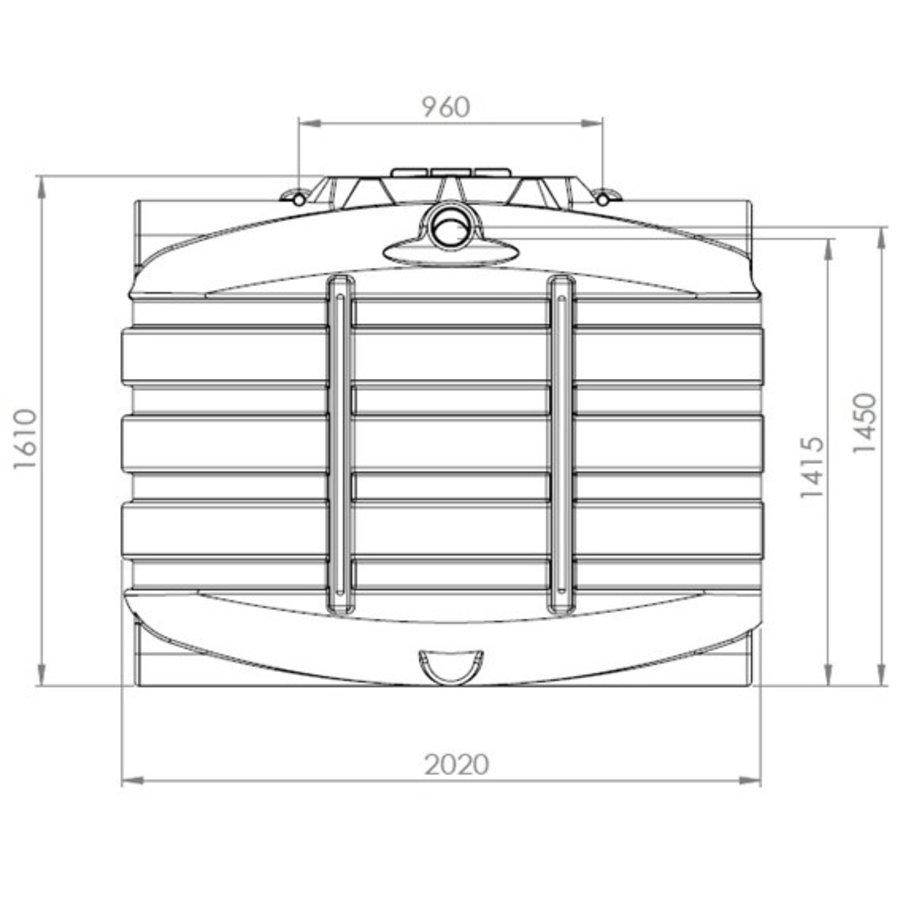 Watertank BDT 3300 liter ondergronds-2