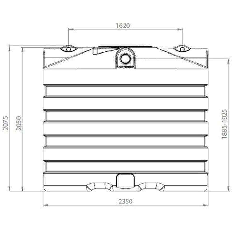 Watertank BDT 6000 liter ondergronds-2