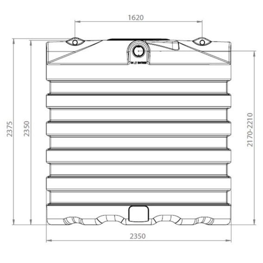 Watertank BDT 7500 liter ondergronds-2