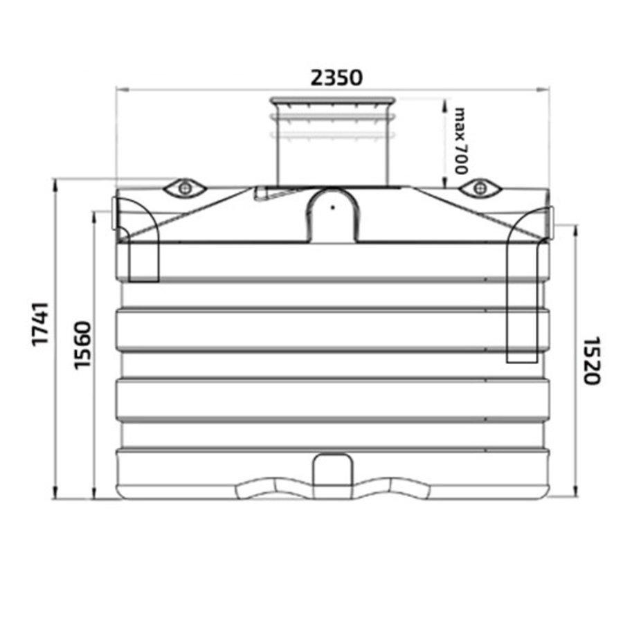 Watertank PRM 5000 liter ondergronds-2