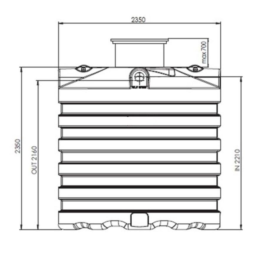 Watertank PRM 7500 liter ondergronds-2