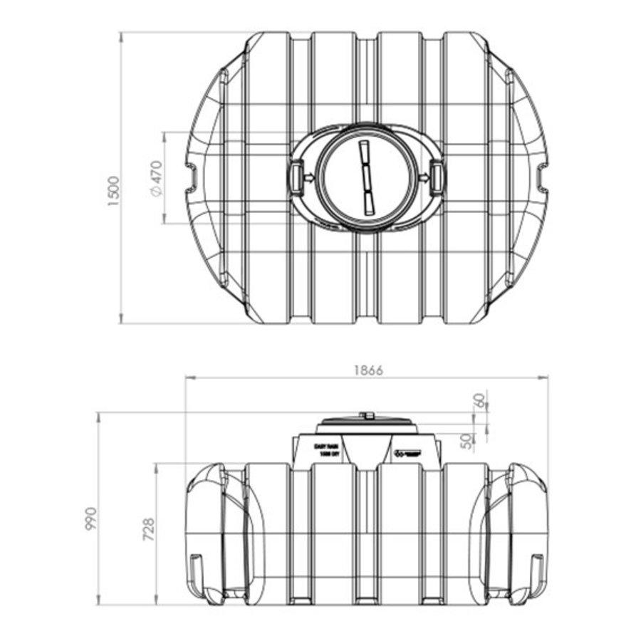 Watertank ERD 1500 liter ondergronds-3