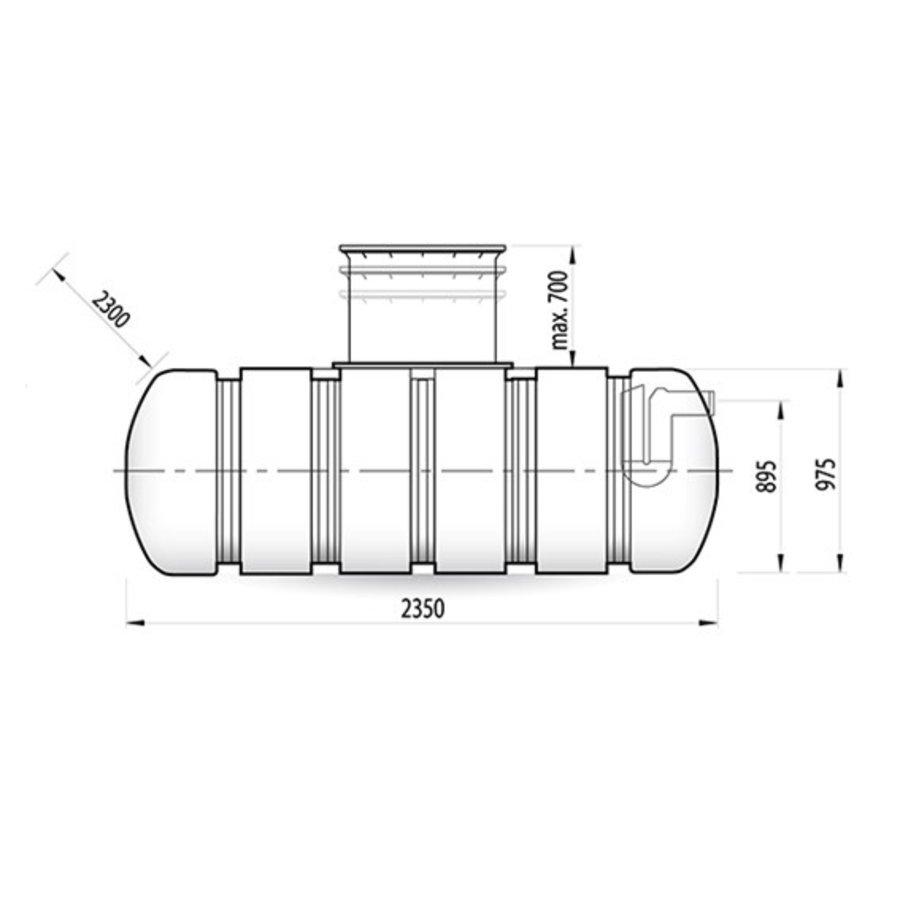 Watertank TWN 3500 liter ondergronds-2