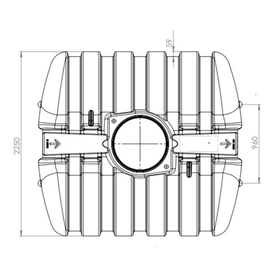 Watertank TWN 5000 liter ondergronds-2