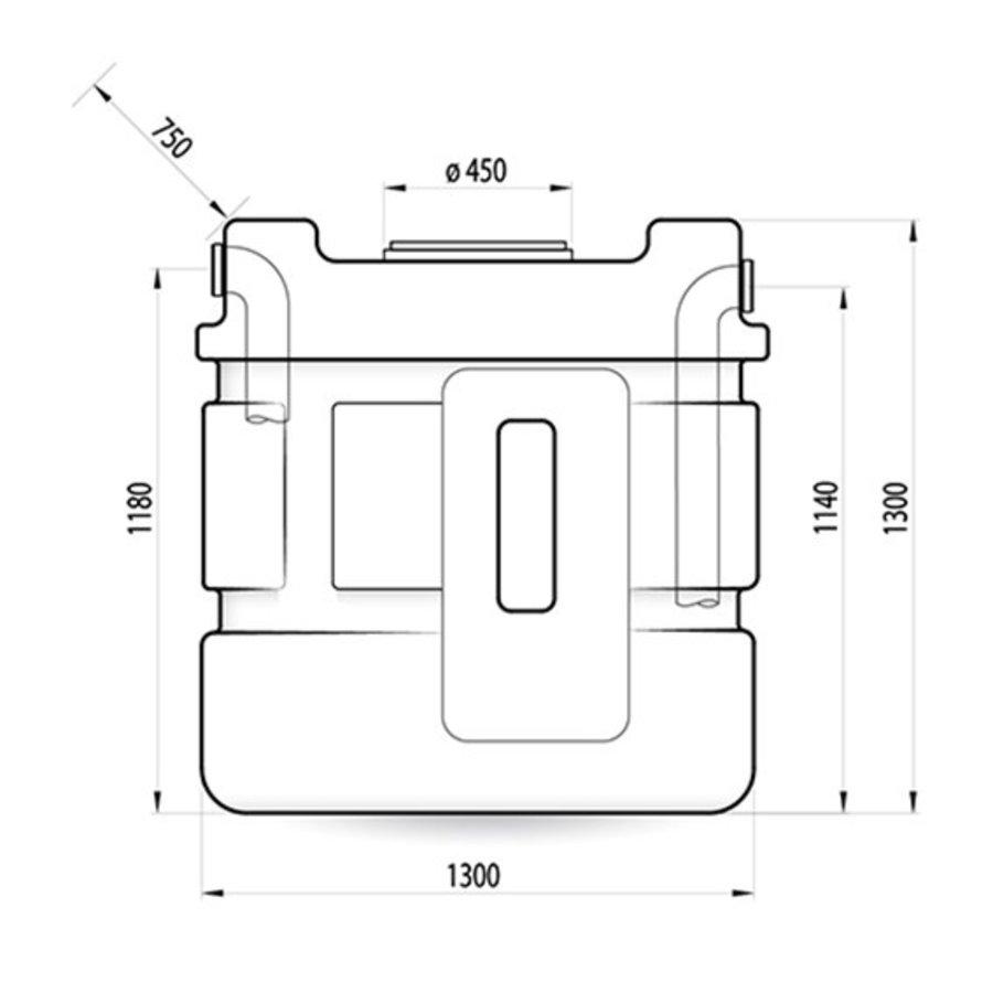 Watertank RHT 1000 liter ondergronds-2