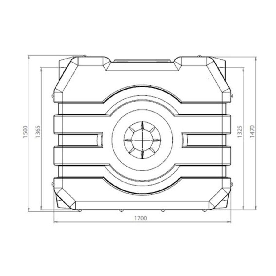 Watertank RHT 1500 liter ondergronds-2