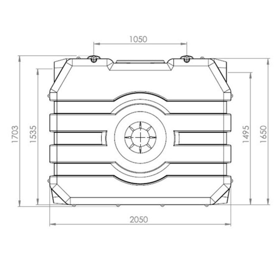 Watertank RHT 2000 liter ondergronds-2