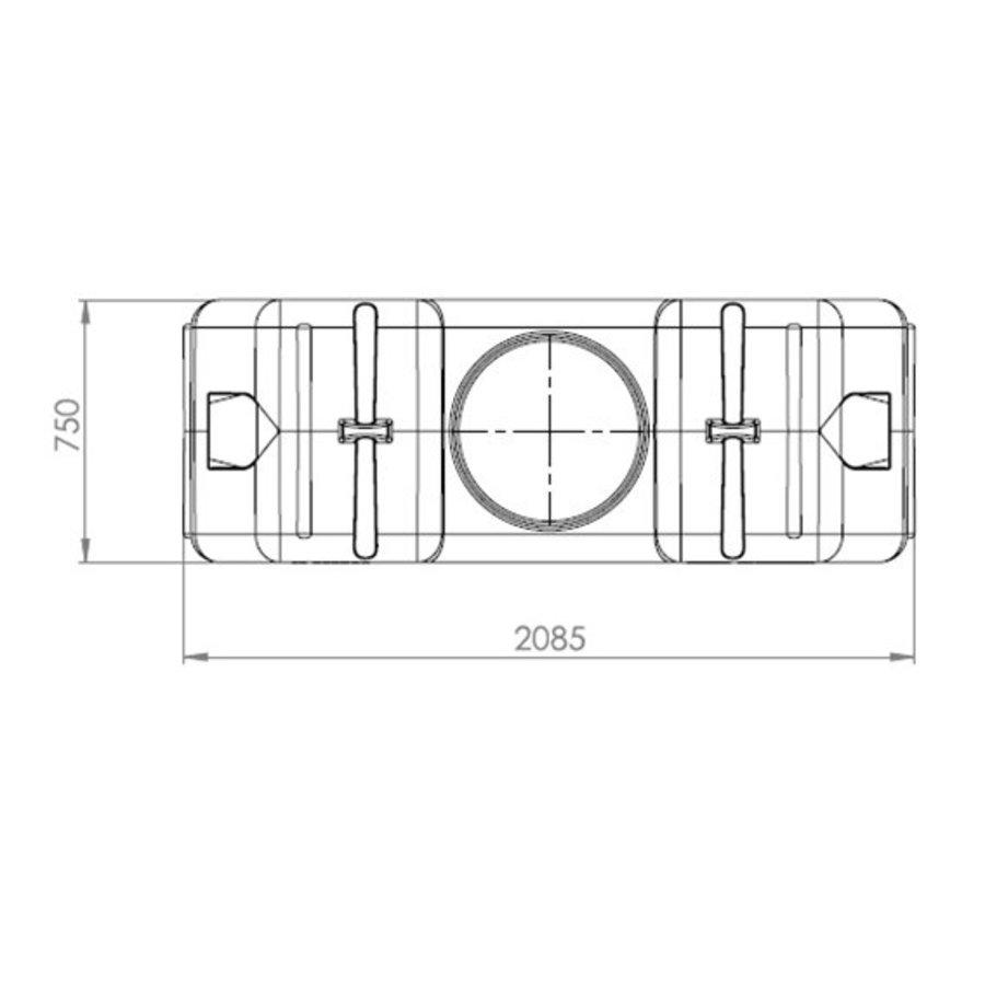 Watertank RHT 2000 liter ondergronds-3