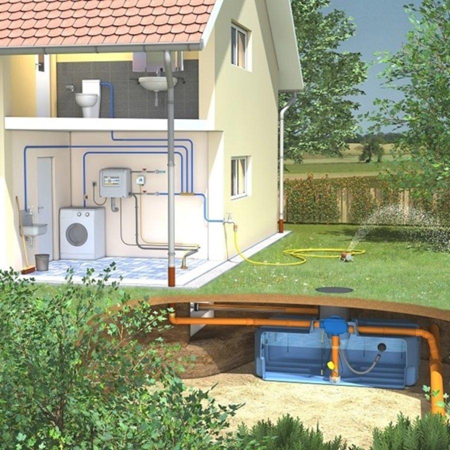 Huis-en tuinpakket ERD 3000 liter met pompsysteem en filter-1