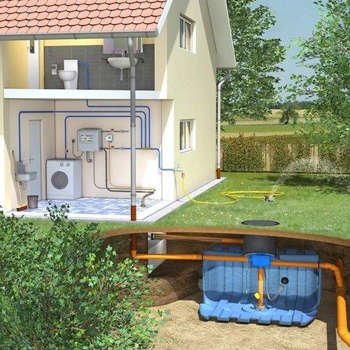 Huis-en tuinpakket ERD 5000 liter met pompsysteem en filter