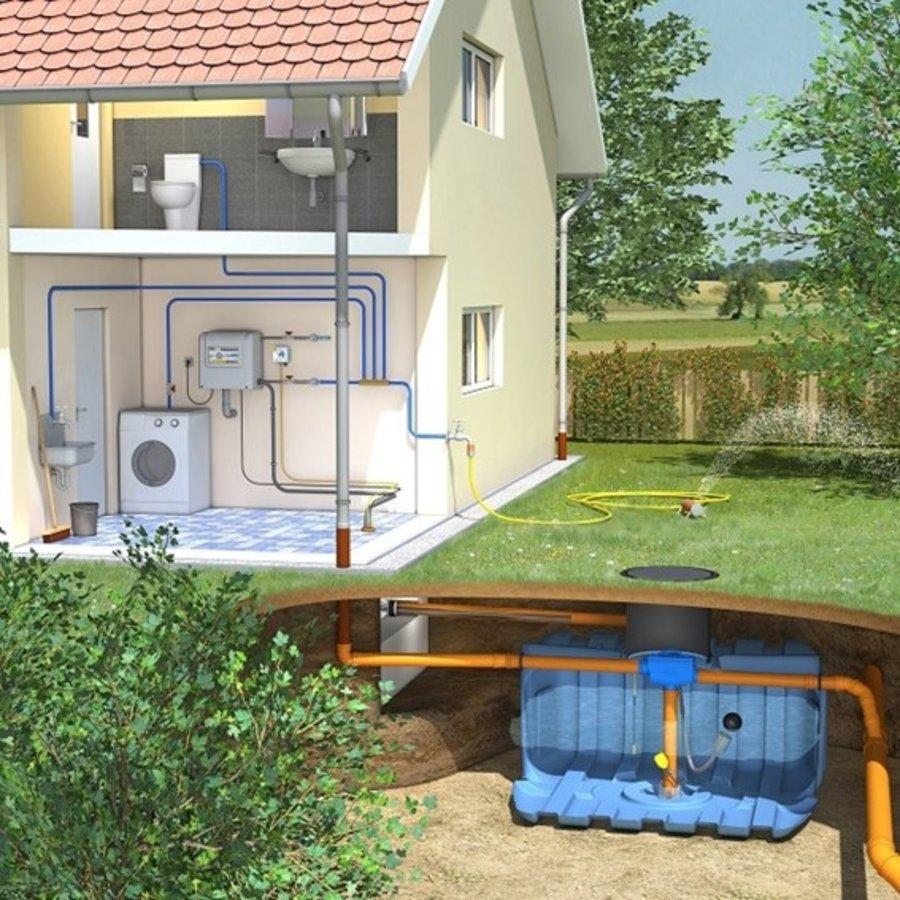 Huis-en tuinpakket ERD 5000 liter met pompsysteem en filter-1