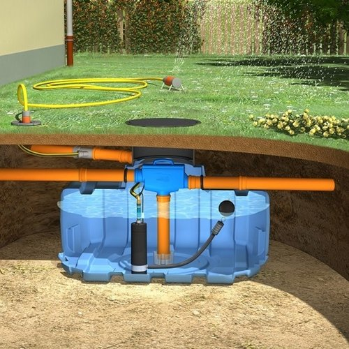 Tuinpakket ERD 1500 liter met pomp en filter