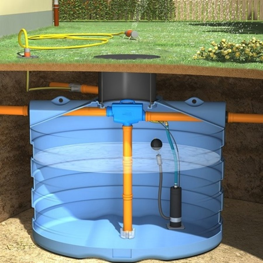 Tuinpakket PRM 5000 liter met pomp en filter-1