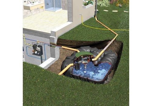 Huis-en tuinpakket PLTN 1500 liter met pompsysteem en filter