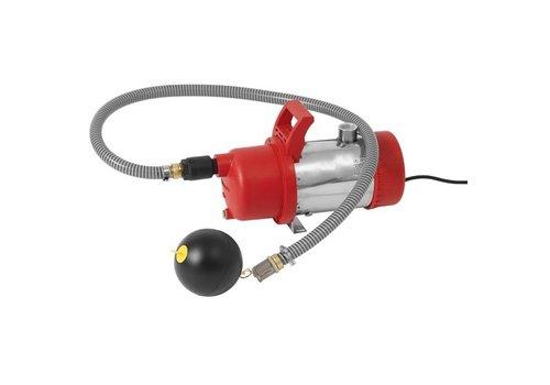 Onderwaterpomp met aan/uit regeling en drijvende filter aanzuiging