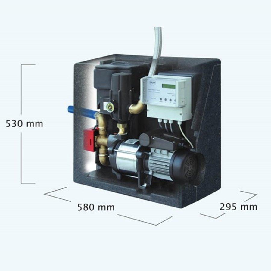 Volautomatische regenwatersysteem met geïntegreerde zuigpomp-2