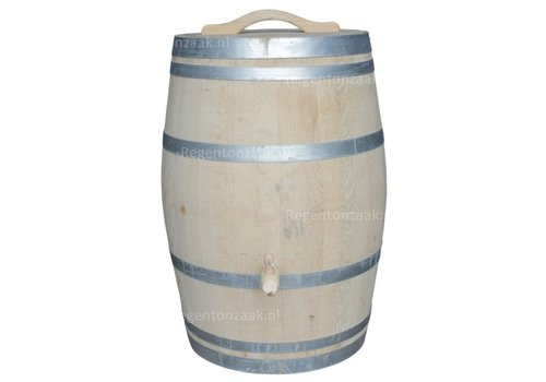 Eiken regenton 225 liter met deksel