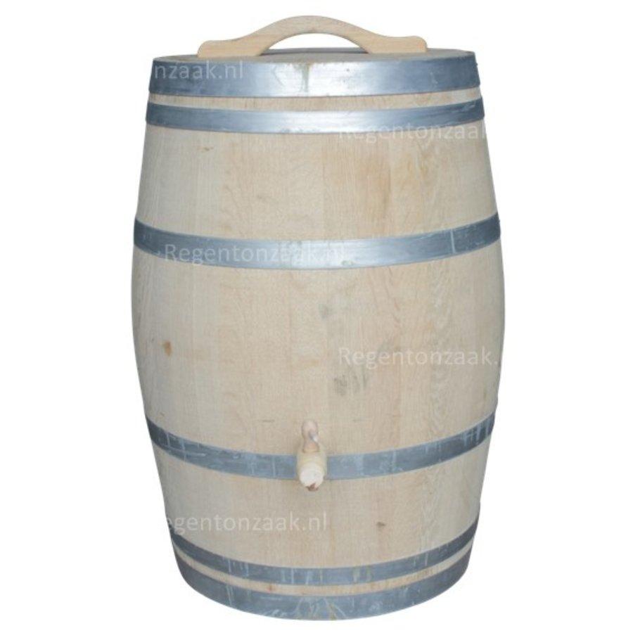 Eiken regenton 225 liter met deksel-1