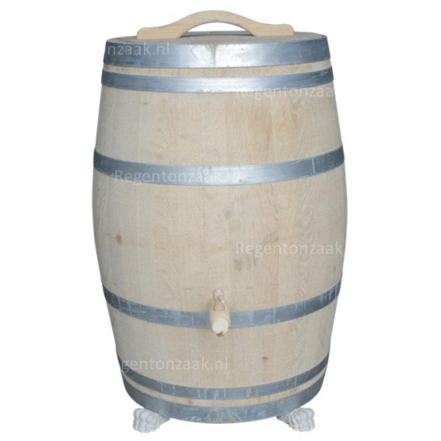 Eiken regenton 225 liter met deksel-2