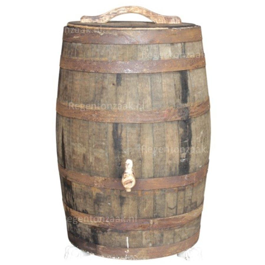 Eiken regenton whiskey 180 liter met deksel-2
