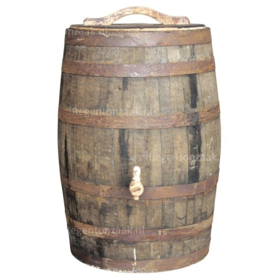 Eiken regenton whiskey 180 liter met deksel-1