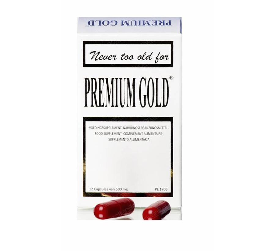 Premium Gold - 12 capsules - Erectiepillen
