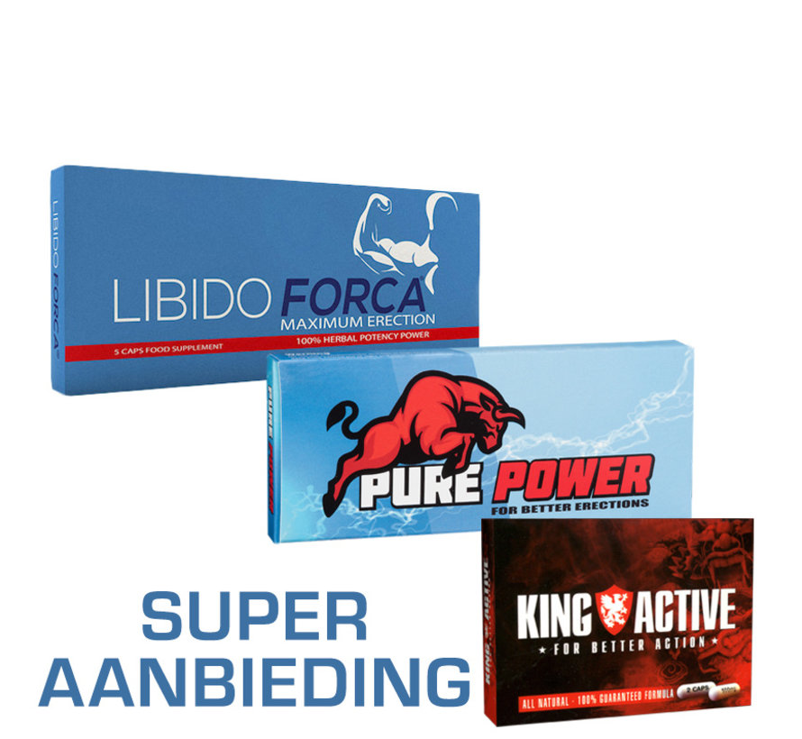 Erectiepillen | 12 pillen | Libido Forca | King Active | Pure Power | Super Aanbieding!